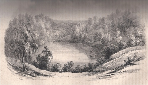 Odensjön, från Runa 1844