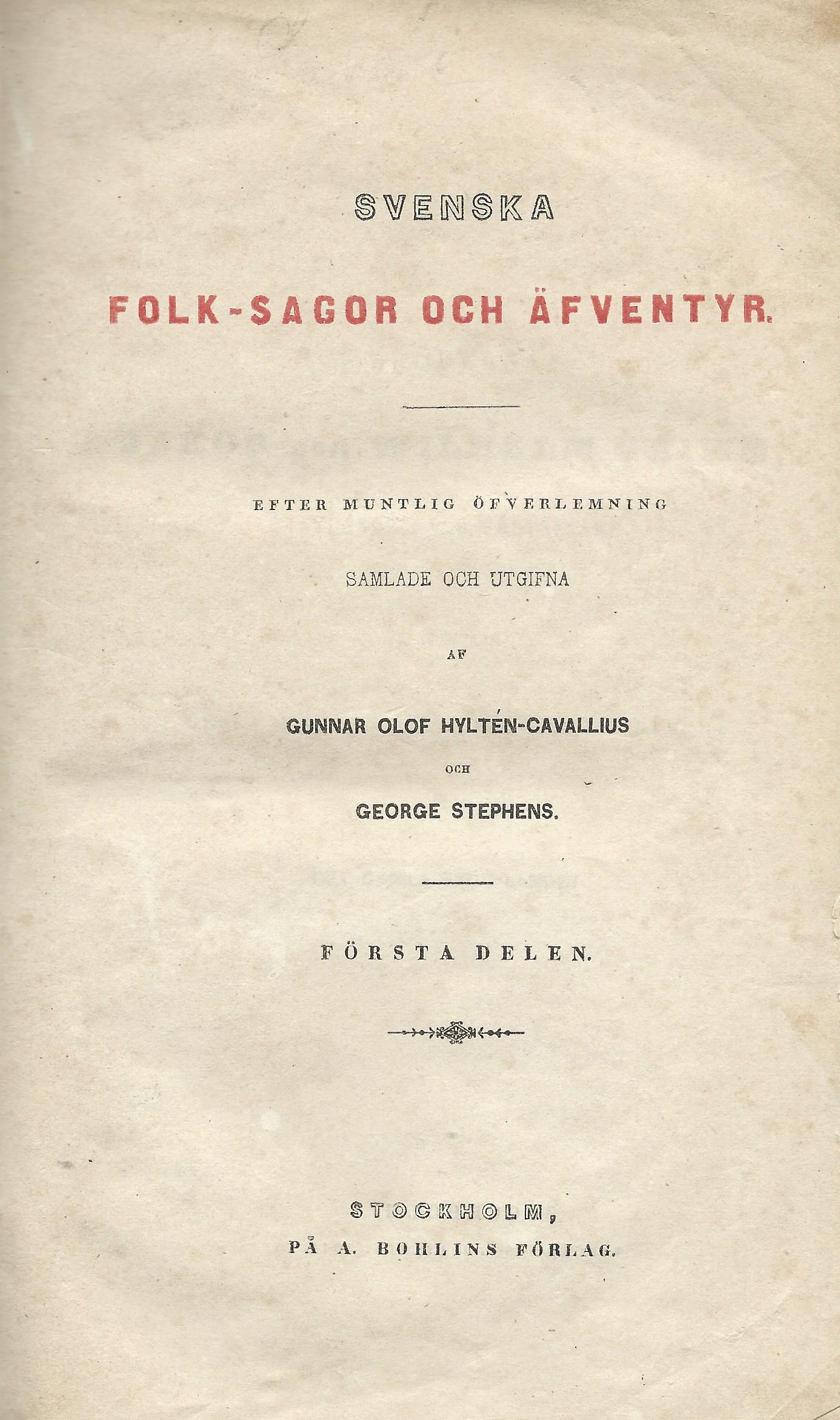 Svenska folksagor titelblad